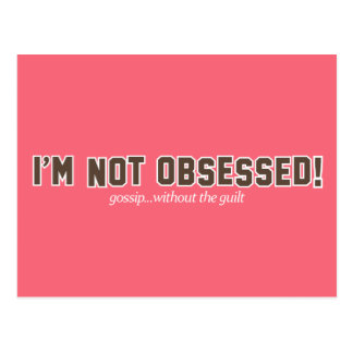 I'm Not Obsessed Logo Postcard