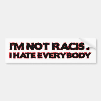I'm Not Racist, I Hate Everybody Bumper Sticker