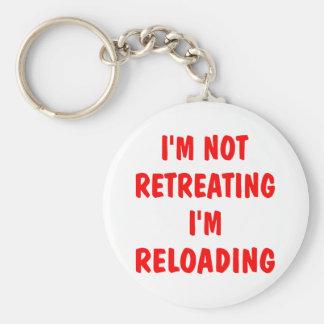 I'm Not Retreating I'm Reloading Basic Round Button Keychain
