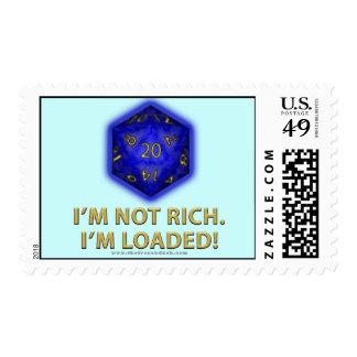 I'm Not Rich.  I'm Loaded!  (Blue) Postage
