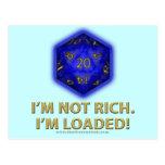 I'm Not Rich.  I'm Loaded!  (Blue) Postcard