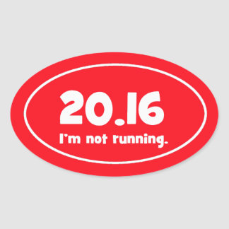 I'm not running (red) oval sticker