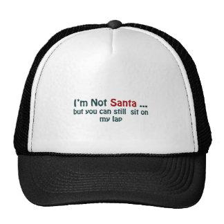 I'm not santa trucker hat