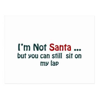 I'm not santa postcard