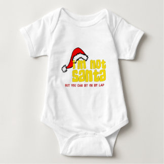 Im not Santa sit on my lap.png Baby Bodysuit