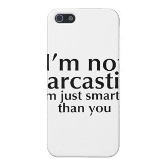 I'm not sarcastic iPhone SE/5/5s cover