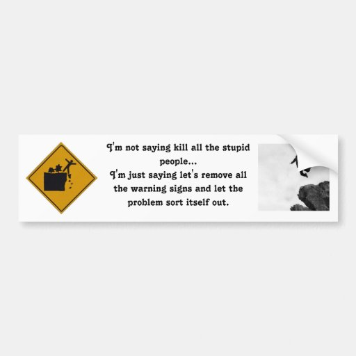 I'm Not Saying Kill All the Stupid People... Bumper Stickers