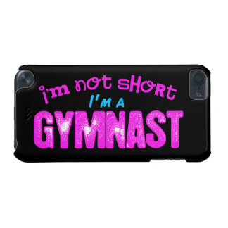 I'm Not Short, I'm a Gymnast Pink and Blue iPod Touch (5th Generation) Case