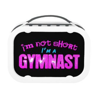 I'm Not Short, I'm a Gymnast Pink and Blue Replacement Plate