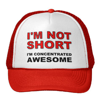 I'm Not Short I'm Concentrated Awesome Funny Cap Trucker Hat