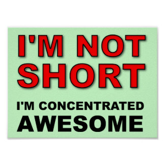 I'm Not Short I'm Concentrated Awesome Funny Poster