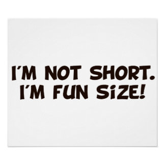 I'm Not Short I'm Fun Size Poster