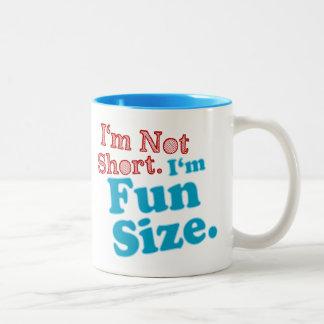 I'm Not Short I'm Fun Size Two-Tone Coffee Mug