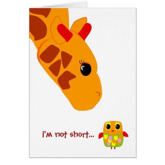 Im not short, Im fun sized! Card