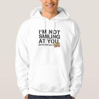 I'm not smiling at you - dark print sweatshirt