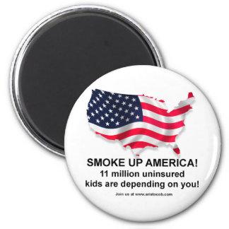 I'm not smoking, I'm insuring the Children! Magnet