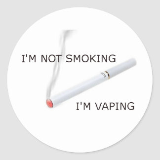 Im not smoking Im vaping Classic Round Sticker