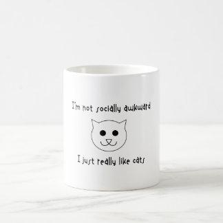 I'm Not Socially Awkward, I Just Really Like Cats Magic Mug