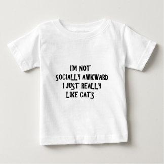 I'm Not Socially Awkward I Just Really Like Cats Tee Shirt