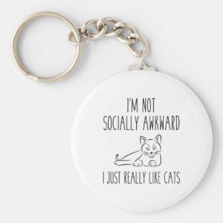 I'm Not Socially Awkward Keychain