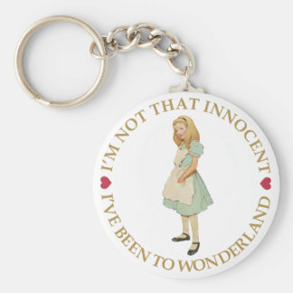 I'M NOT THAT INNOCENT. I'VE BEEN TO WONDERLAND! KEYCHAIN