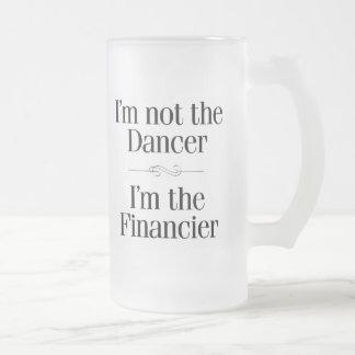 I'm Not the Dancer Frosted Glass Beer Mug