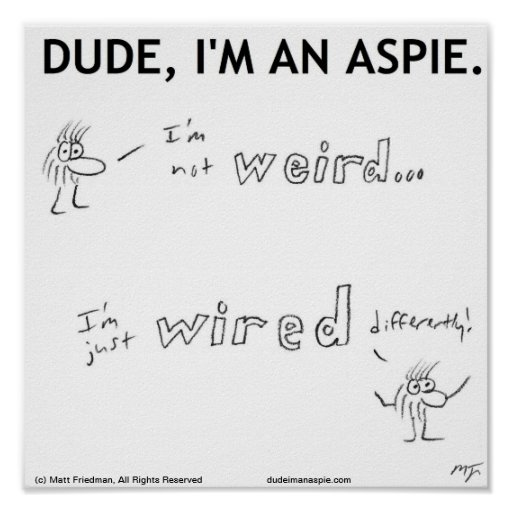 I'm Not Weird, I'm Just Wired DIfferently! Print