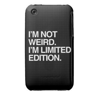 I'M NOT WEIRD I'M LIMITED EDITION iPhone 3 Case-Mate CASE