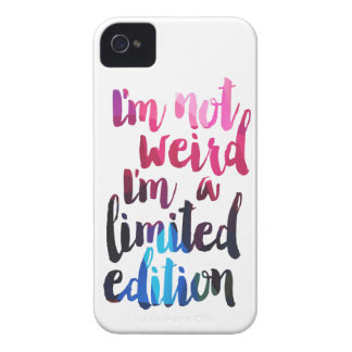 Im not weird Im limited edition quote teen humor iPhone 4 Case-Mate Case