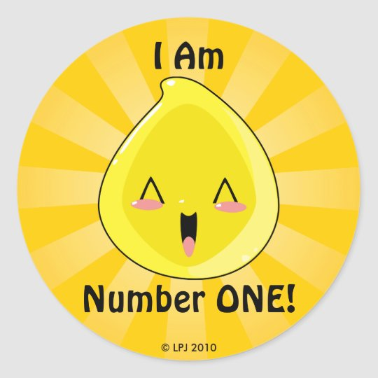 I'm Number One Chibi Tinkle Stickers