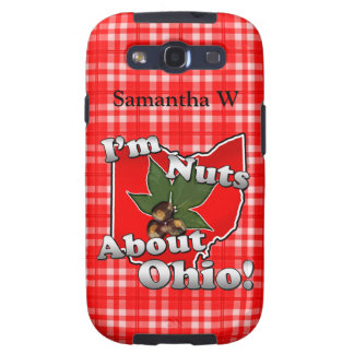 I'm Nuts About Ohio, Funny Red Buckeye Nut Samsung Galaxy S3 Cover