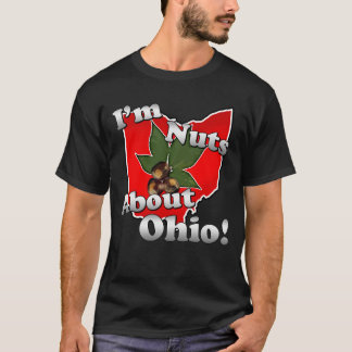 I'm Nuts About Ohio, Funny Red Buckeye Nut T-Shirt