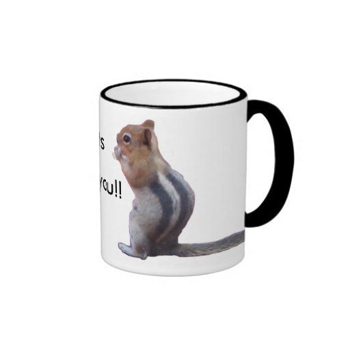 I'm nuts about you! coffee mugs