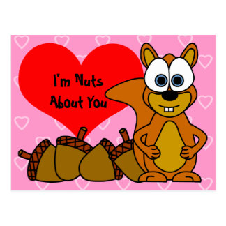 I'm Nuts About You - Cute Squirrel Postcard