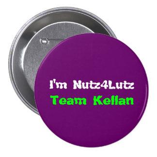 I'm Nutz4Lutz 3 Inch Round Button