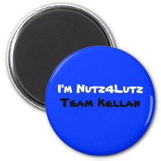 I'm Nutz4Lutz, Team Kellan 2 Inch Round Magnet