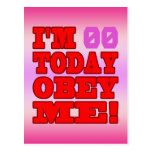 I'm - Obey Me! Funny Customize Birthday Template Postcards