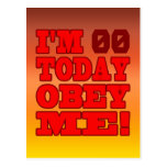 I'm - Obey Me! Funny Customize Birthday Template Post Card