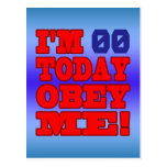 I'm - Obey Me! Funny Customize Birthday Template Post Cards