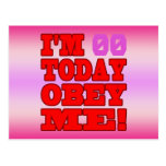 I'm - Obey Me! Funny Customize Birthday Template Postcard