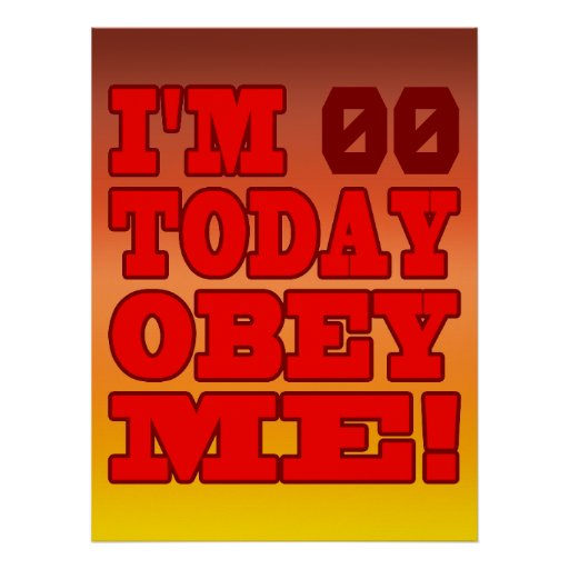 I'm - Obey Me! Funny Customize Birthday Template Print