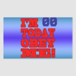 I'm - Obey Me! Funny Customize Birthday Template Stickers