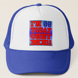 I'm - Obey Me! Funny Customize Birthday Template Trucker Hat