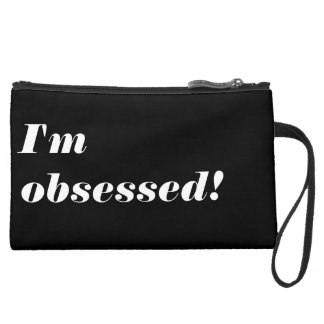 I'm Obsessed Sueded Mini Clutch