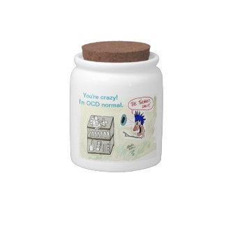 """I'm OCD Normal"" Tornado Shelf Candy Jar"