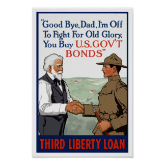 I'm Off To Fight For Old Glory -- WW1 Poster