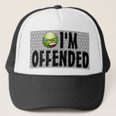 I'm Offended Angry Smiley Bubble Wrap Trucker Hat at Zazzle