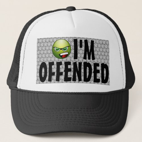I'm Offended Angry Smiley Bubble Wrap Millennial Costume Trucker Hat
