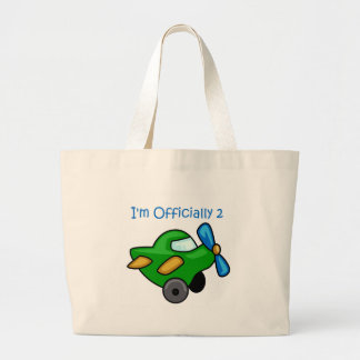 I'm Officially 2, Jet Plane Tote Bags