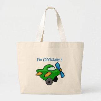 I'm Officially 3, Jet Plane Tote Bag